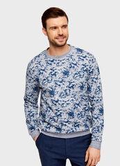 Кофта, рубашка, футболка мужская O'stin Джемпер мужской с цветочным принтом MT1U57-62