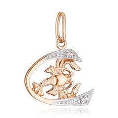 Ювелирный салон Jeweller Karat Подвеска золотая с цирконом арт. 1134141 Рак