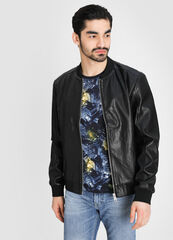 Верхняя одежда мужская O'stin Куртка-бомбер из перфорированной искусственной кожи MJ6W57-99