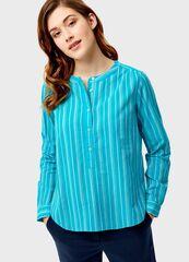 Кофта, блузка, футболка женская O'stin Рубашка-туника из тонкого хлопка LS4SA5-N4