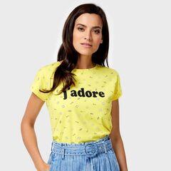 Кофта, блузка, футболка женская O'stin Футболка женская в микропринт LT4U84-35