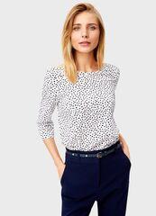 Кофта, блузка, футболка женская O'stin Принтованная блузка LS1T42-00