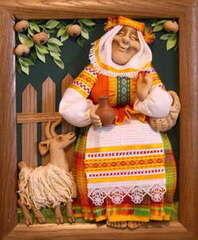 Подарок Славутасць Панно «Бабка с козой» hom002
