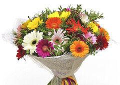 Магазин цветов Долина цветов Букет «Сочные герберы»