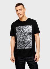 Кофта, рубашка, футболка мужская O'stin Футболкас принтом «город»  мужская MT4U13-99-vt