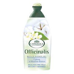 Уход за телом L'Angelica Гель для ванны и душа с экстрактом белого мускуса и хлопка для чувствительной кожи Officinalis 500 ml
