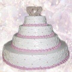 Торт Милано Свадебный торт №12