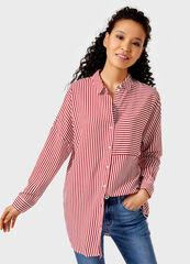 Кофта, блузка, футболка женская O'stin Вискозная женская рубашка в полоску LS4V31-14