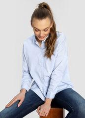 Кофта, блузка, футболка женская O'stin Хлопковая рубашка LS4W51-60