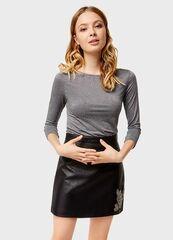 Кофта, блузка, футболка женская O'stin Футбoлка с люрексом LT4U11-95