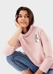Кофта, блузка, футболка женская O'stin Джемпер с широким воротником LT4T83-X1