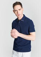 Кофта, рубашка, футболка мужская O'stin Рубашка-поло с текстильным воротником MT4W75-68
