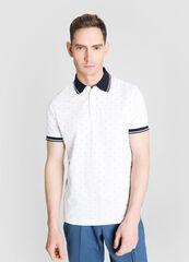 Кофта, рубашка, футболка мужская O'stin Рубашка-поло с микрогеометрическим принтом MT4W74-00