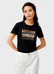 Кофта, блузка, футболка женская O'stin Футболка с принтом женская LT4UB6-99
