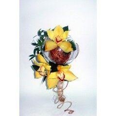 Магазин цветов Планета цветов Цветочная композиция в стекле №3
