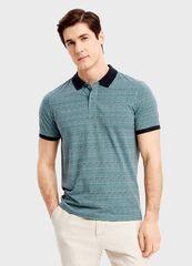 Кофта, рубашка, футболка мужская O'stin Поло из джерси с этническим принтом MT1SB1-42