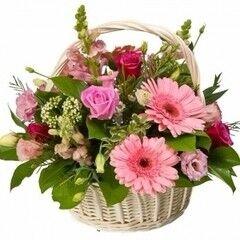 Магазин цветов Cvetok.by Цветочная корзина «Татьянин день»