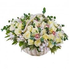 Магазин цветов Cvetok.by Цветочная корзина «Нежное прикосновение»