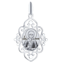 Ювелирный салон Sokolov Серебряная иконка «Святая блаженная Матрона Московская» 94100255