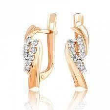 Ювелирный салон Jeweller Karat Серьги золотые с бриллиантами арт. 3225551/9