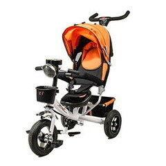 Велосипед RS Детский трёхколёсный велосипед c ручным толкателем Trike