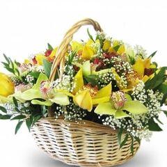 """Магазин цветов Долина цветов Корзина с цветами """"Неожиданность """""""
