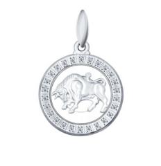 Ювелирный салон Sokolov Подвеска «Знак зодиака Телец» из серебра 94031384