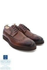 Обувь мужская HISTORIA Мужские туфли дерби на сплошной подошве с тонировкой