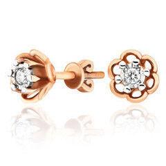 Ювелирный салон Jeweller Karat Серьги золотые с бриллиантами арт. 3223035/9
