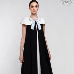 Платье женское Pintel™ Элегантное чёрное миди-платье А-силуэта Paloma