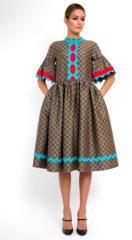Платье женское Pintel™ Платье свободного силуэта из шерсти  Saäna