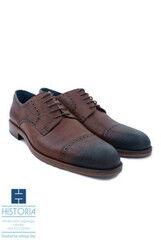Обувь мужская HISTORIA Мужские туфли дерби из фактурной кожи, тонированные