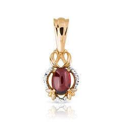 Ювелирный салон Jeweller Karat Подвеска золотая с бриллиантами и гранатом арт. 1235059