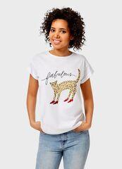 Кофта, блузка, футболка женская O'stin Футболка с принтом LT4UB2-02