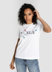 Кофта, блузка, футболка женская O'stin Футболка женская с принтом в морском стиле LT1W51-00