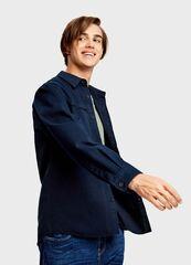 Кофта, рубашка, футболка мужская O'stin Рубашка-куртка из твила MB2T43-69