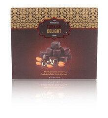 Подарок на Новый год Hacizade Рахат лукум с миндалем в шоколаде, 350 гр