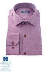 Кофта, рубашка, футболка мужская HISTORIA Рубашка аметистовая с фактурным плетением