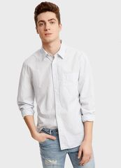 Кофта, рубашка, футболка мужская O'stin Рубашка в микрополоску MS2S43-60