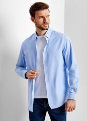 Кофта, рубашка, футболка мужская O'stin Однотонная рубашка из хлопка Oxford MS4T42-61