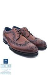 Обувь мужская HISTORIA Мужские туфли дерби броги (экстралайт) коричневые