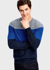Кофта, рубашка, футболка мужская O'stin Трёхцветный джемпер MK1T53-69