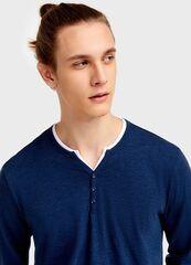 Кофта, рубашка, футболка мужская O'stin Футболка с вырезом «хенли» MT4U11-66