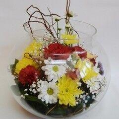 Магазин цветов Планета цветов Цветочная композиция в стекле №9