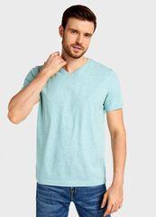 Кофта, рубашка, футболка мужская O'stin Футболка с V-горловиной из джерси MT6U12-42