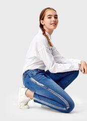 Брюки женские O'stin Узкие джинсы с покрытием LP2T53-D4
