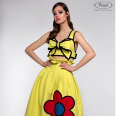 Костюм женский Pintel™ Комплект из топа-бюстье и юбки Pauliina