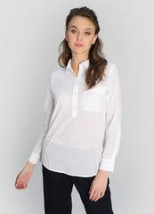Кофта, блузка, футболка женская O'stin Блузка-туника из структурного хлопка LS4W81-00