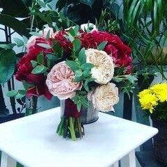 Магазин цветов LION Букет «Свадебный» с пионами и розами