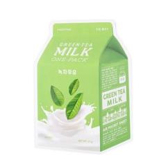 Уход за лицом A'Pieu Milk Маска тканевая Зеленый чай